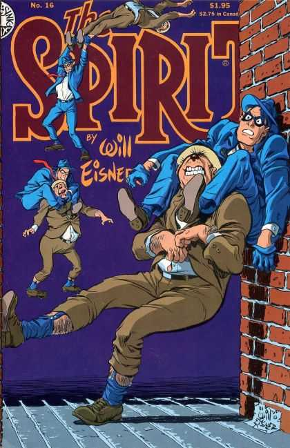 Spirit 16 - Kitchen Sink Press - Mystery - Action - Will Eisner - Brick Wall - Dave Stewart, Will Eisner