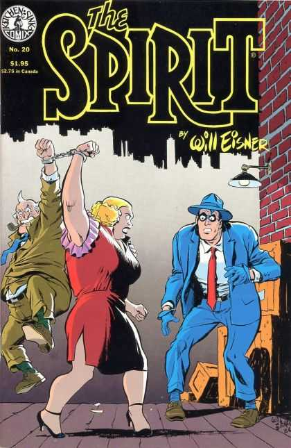 Spirit 20 - Will Eisner - Hand Cuffs - Blue Tux - Brick Wall - Pipe - Paul Smith, Will Eisner