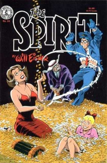 Spirit 24 - Will Eisner - Coins - Gold - Girl - Sword - Paul Smith, Will Eisner