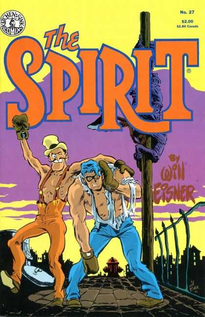 Spirit 27 - Ragged Shir - Black Galsses - Fire Hydrant - Trashcan Lid - Boxing Gloves - Brian Bolland, Will Eisner