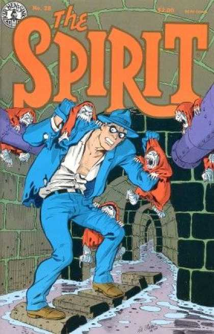 Spirit 28 - Spirit - Blue Coat - Monsters - Biting - Sewer - Will Eisner