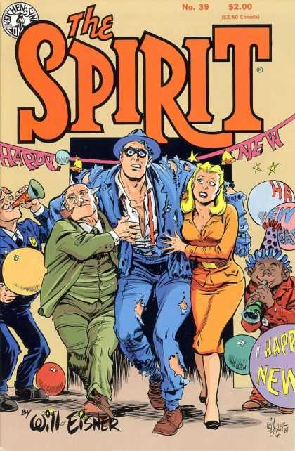 Spirit 39 - Happy New Year - Tattered Clothes - Celebration - A Little Help From Some Friends - Party - Will Eisner
