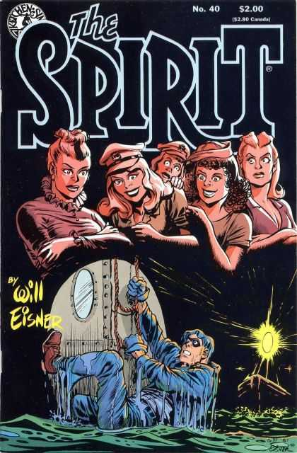 Spirit 40 - Will Eisner - Water - Ship - Trying Hard - Got The Thread - Will Eisner