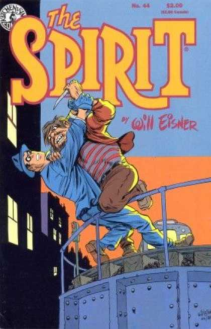 Spirit 44 - Will Eisner - Fighting - Burglar - Falling - Knife - Will Eisner