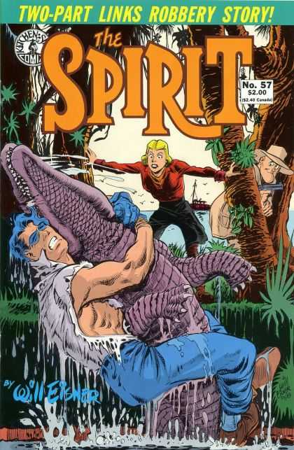 Spirit 57 - Crocodile - Woman - Gun - Hat - No 57 - Will Eisner