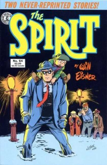 Spirit 64 - Will Eisner - Never-reprinted Stories - Snow - Boy Being Carried - Lamp Posts - Will Eisner
