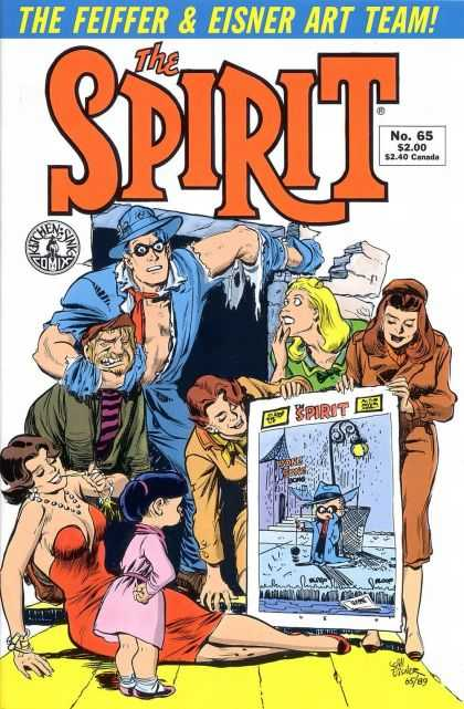 Spirit 65 - The Feiffer U0026 Eisner Art Team - Torn Clothing - Broken Stone - Doorway - Kitchen Sink Comix - Will Eisner