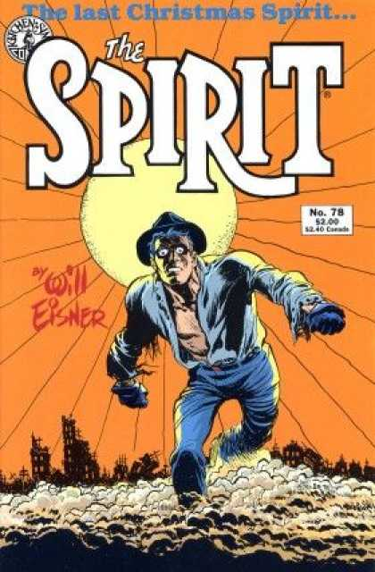 Spirit 78 - Man - Sun - The Last Christmas Spirit - Large - Fog - Will Eisner