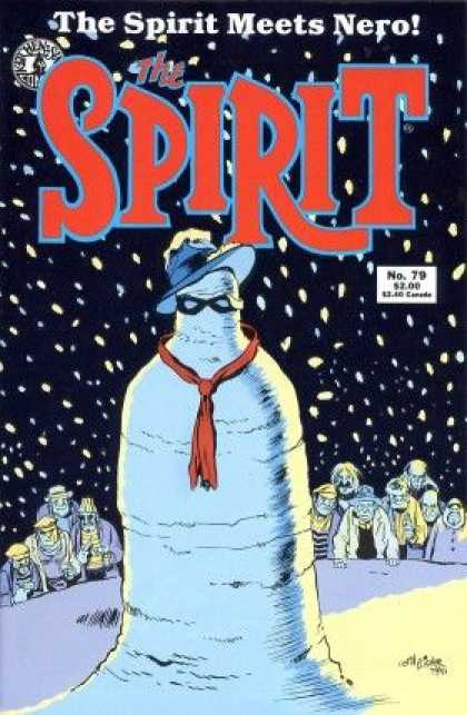Spirit 79 - The Spirit Meets Nero - Red Tie - Black Glasses - No 79 - Snowman - Will Eisner