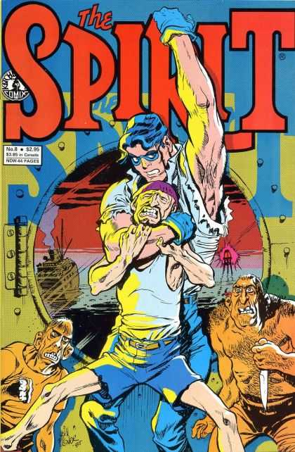 Spirit 8 - Man - Superhero - Illuminator - Ship - Knife - Darwyn Cooke, Will Eisner