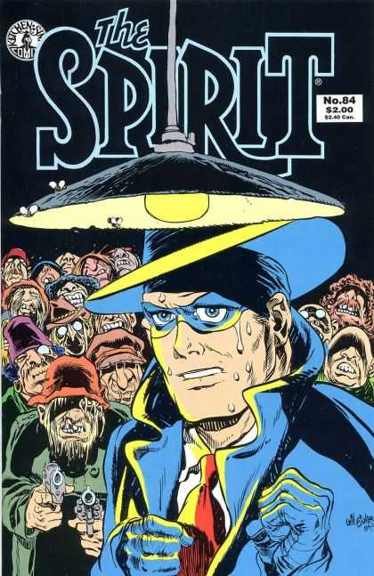 Spirit 84 - Kitchen Sink Comics - Light - Hat - Flies - Guns - Will Eisner