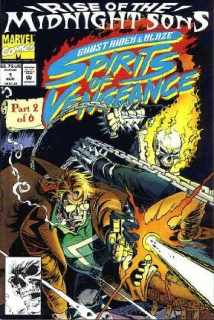 Spirits of Vengeance 1 - Fire - Man - Skull - Gun - Water