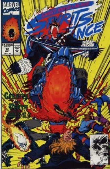Spirits of Vengeance 10 - Motorcycle - Deadpool - Collision - Skull - Ghost Rider