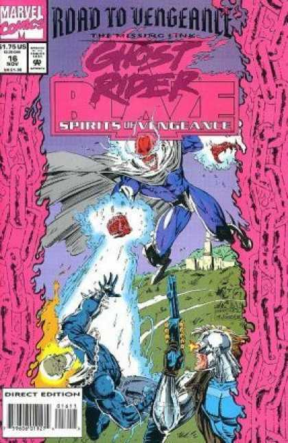 Spirits of Vengeance 16 - Road To Vengeance - Marvel Comics - The Missing Link - Blue Laser - Pink Chains