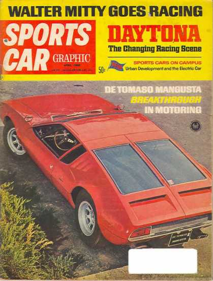 Sports Car Graphic - April 1968