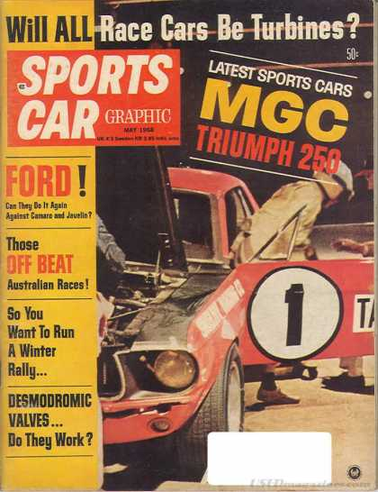 Sports Car Graphic - May 1968