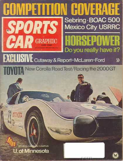 Sports Car Graphic - June 1968