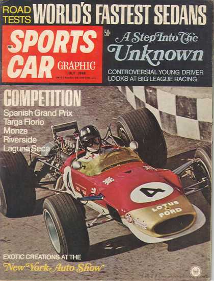 Sports Car Graphic - July 1968