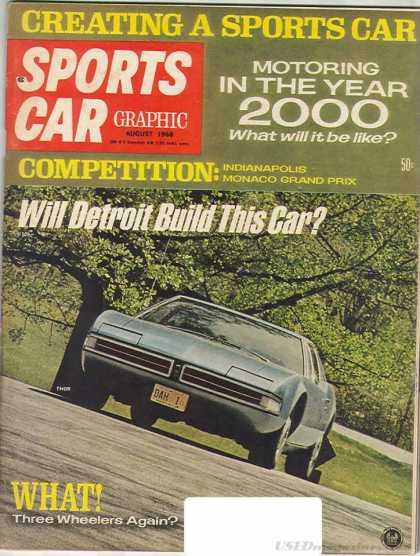 Sports Car Graphic - August 1968