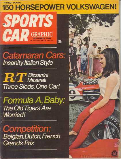 Sports Car Graphic - September 1968