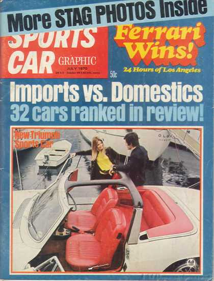 Sports Car Graphic - July 1970