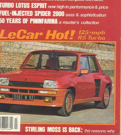 Sports Car Graphic - October 1980