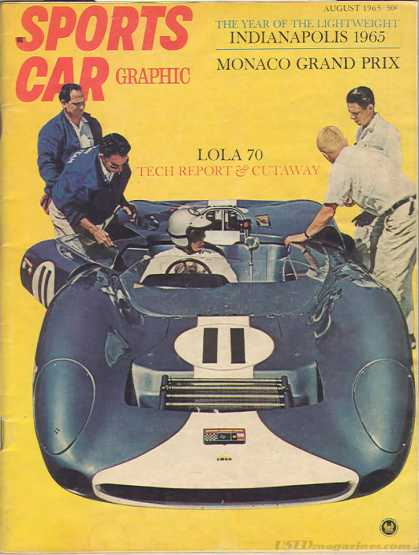 Sports Car Graphic - August 1965