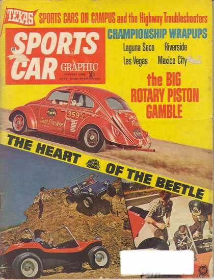 Sports Car Graphic - January 1968