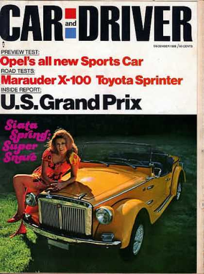 Sports Car Illustrated - December 1968