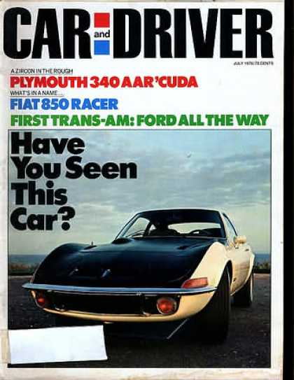 Sports Car Illustrated - July 1970