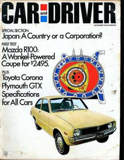 Sports Car Illustrated - November 1970