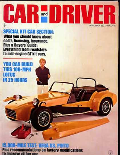 Sports Car Illustrated - November 1971