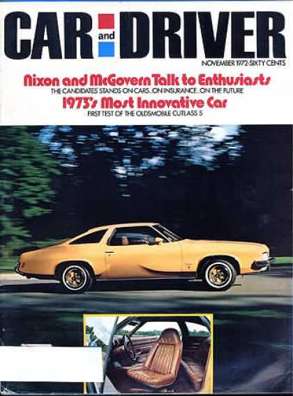 Sports Car Illustrated - November 1972