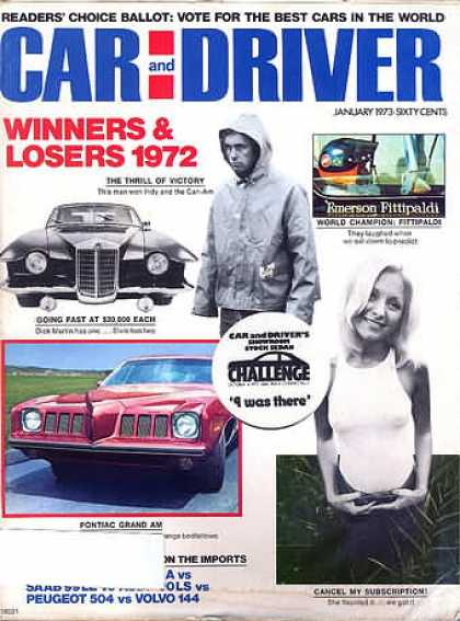 Sports Car Illustrated - January 1973