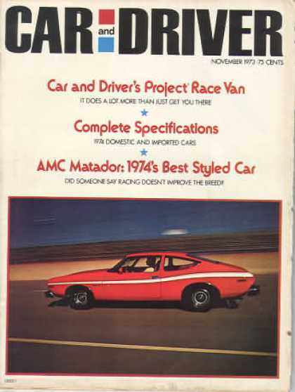 Sports Car Illustrated - November 1973