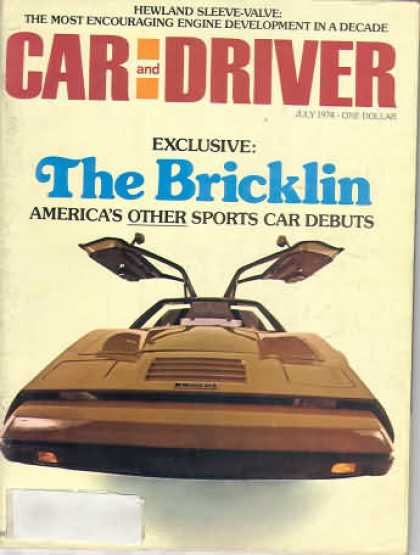 Sports Car Illustrated - July 1974
