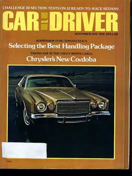 Sports Car Illustrated - November 1974