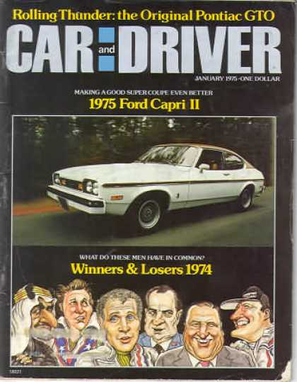 Sports Car Illustrated - January 1975