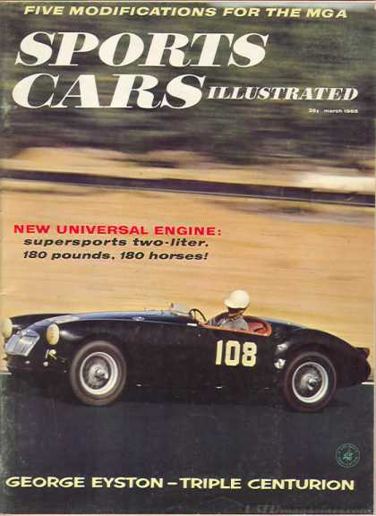 Sports Car Illustrated - March 1958