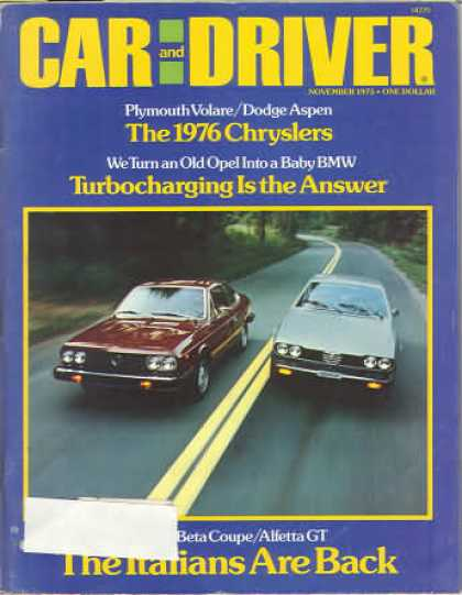 Sports Car Illustrated - November 1975