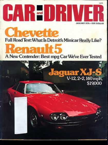 Sports Car Illustrated - January 1976