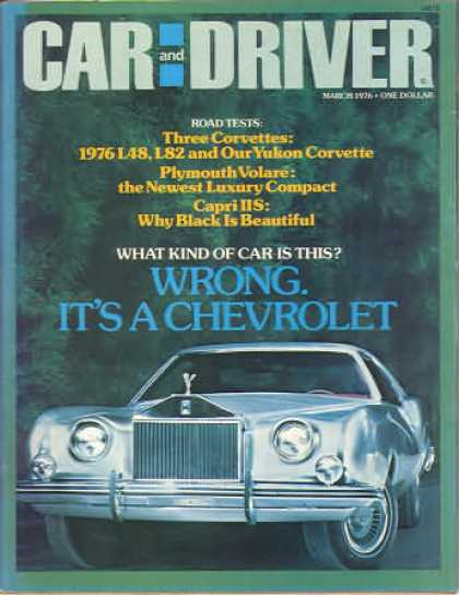 Sports Car Illustrated - March 1976