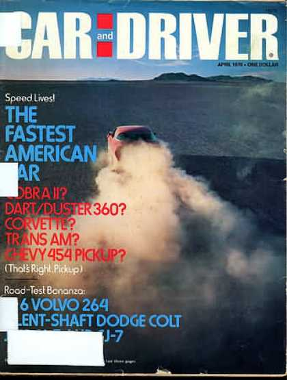 Sports Car Illustrated - April 1976