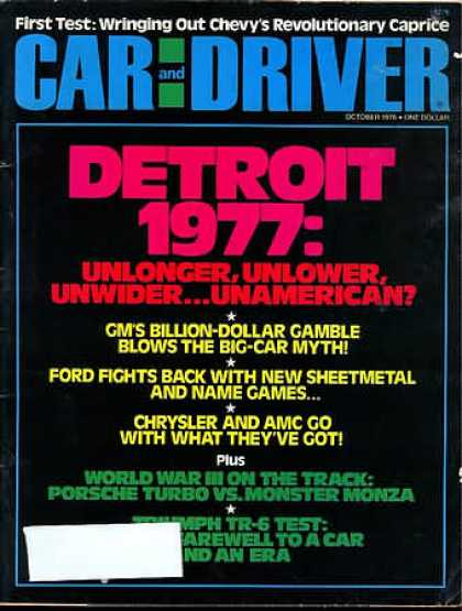 Sports Car Illustrated - October 1976