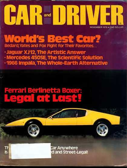 Sports Car Illustrated - November 1976