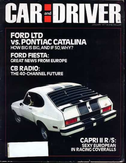 Sports Car Illustrated - January 1977