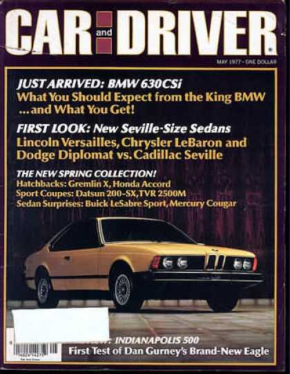 Sports Car Illustrated - May 1977
