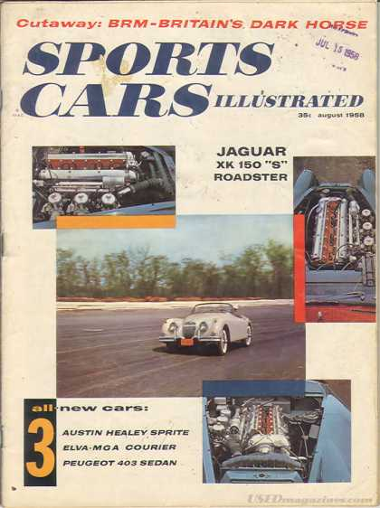 Sports Car Illustrated - August 1958