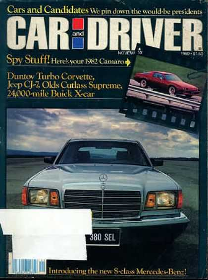 Sports Car Illustrated - November 1980