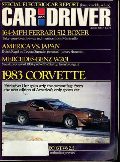 Sports Car Illustrated - June 1981